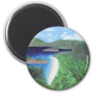 St John strand för US Virgin Islands beskådar Magnet