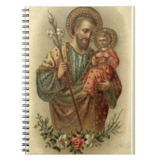 St Joseph babyJesus lilja Anteckningsbok