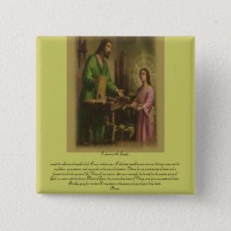 St Joseph bön Standard Kanpp Fyrkantig 5.1 Cm