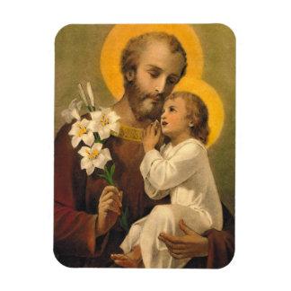 St Joseph med den heliga barnJesus magneten Magnet
