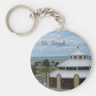 St Joseph Michigan Rund Nyckelring