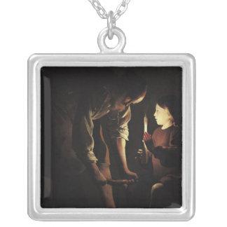 St Joseph snickaren, c.1640 Silverpläterat Halsband