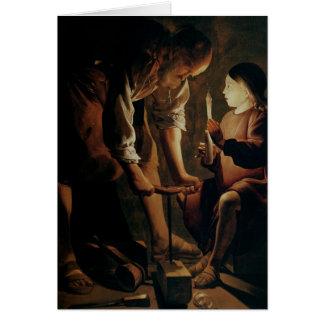 St Joseph snickaren Hälsningskort