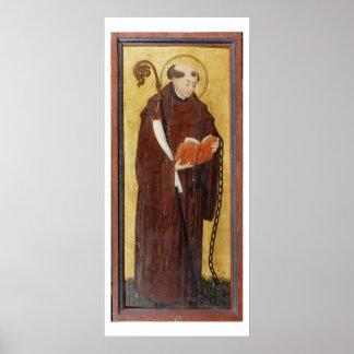 St Leonard (olja på slipad panel för guld) (para a Poster