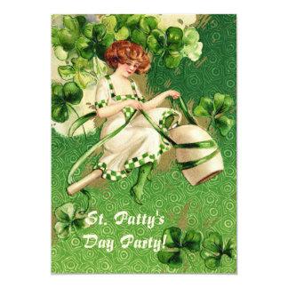 St. Liten pastej inbjudan för party för dagflicka