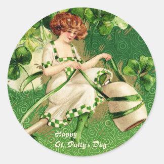 St. Liten pastej klistermärke för dagflicka