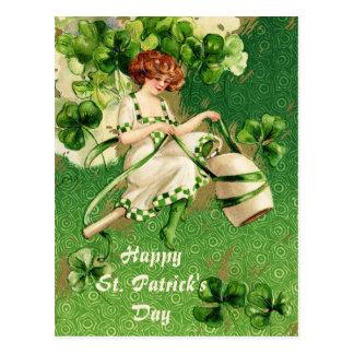 St. Liten pastej vykort för vintage för dagflicka