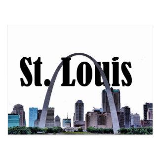 St Louis horisont med St Louis i himmelvykortet Vykort