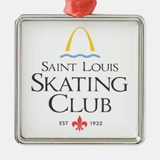 St Louis som åker skridskor klubben Julgransprydnad Metall