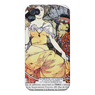 """St Louis utläggningkonst vid Mucha"" iphone case iPhone 4 Skydd"
