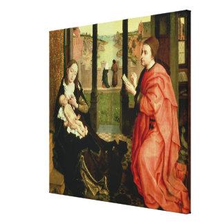 St Luke som drar ett porträtt av oskulden Canvastryck