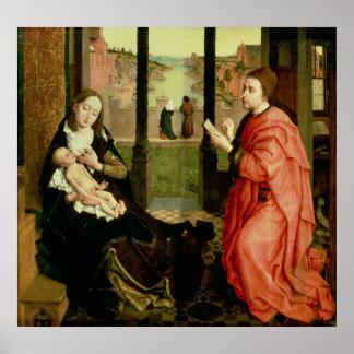 St Luke som drar ett porträtt av oskulden Poster