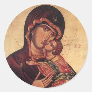 St Mary och Jesus klistermärke