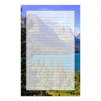 St Mary sjö, glaciärnationalpark, Montana Brevpapper