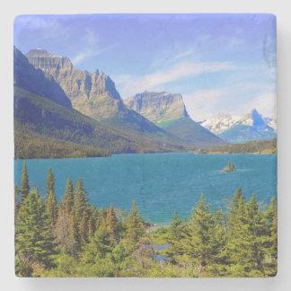 St Mary sjö, glaciärnationalpark, Montana Stenunderlägg