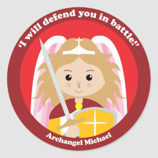 St Michael ärkeängeln Runt Klistermärke