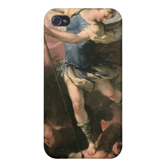 St Michael Luca Giordano (Fa-Presto) iPhone 4 Cases
