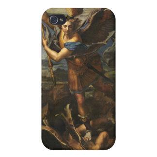 St Michael och Satanen - Raphael iPhone 4 Cases