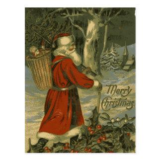 St Nick för vintagegod julkort Vykort