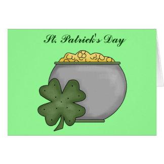 St Patrick dag Hälsningskort