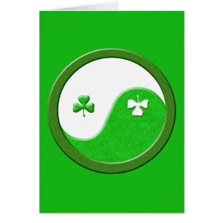 St Patrick möter Taoism Hälsningskort