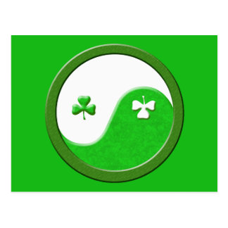 St Patrick möter Taoism Vykort