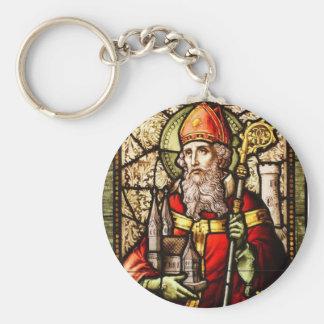 St Patrick skyddshelgon av Irland Keychain Rund Nyckelring