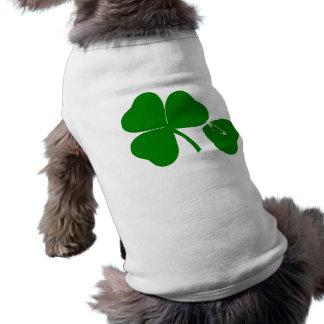 St patrick's day - få lyckliga 3 + 1 lämnar = 4 husdjurströja