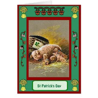 St patrick's day kull av grisar hälsningskort