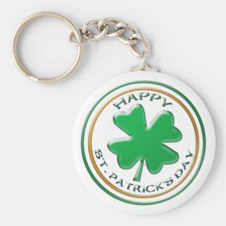 St patricks daykeychain rund nyckelring
