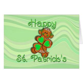 ST. PATRICKS för SHAMROCKFLICKALYCKLIG av SHARON Hälsningskort