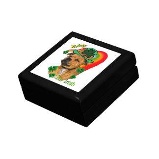 St Patricks för Staffordshire tjurTerrier Smyckeskrin