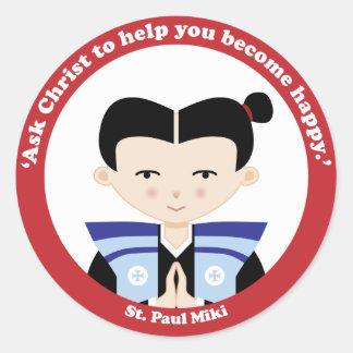 St Paul Miki Runt Klistermärke