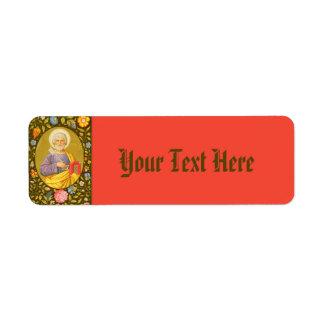 St Peter den smala FBMP etiketten #4a för apostel Returadress Etikett