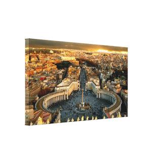 St Peter kvadrerar Vatican City Canvastryck