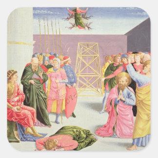 St Peter och Simon Magus, 15th århundrade Fyrkantigt Klistermärke