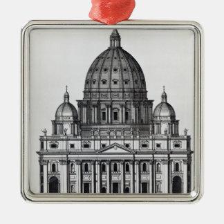 St Peter Rome som inristas av C. Campbell Julgransprydnad Metall