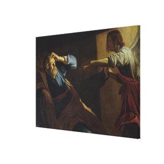St Peter som är utsläppt från fängelset (olja på p Canvastryck