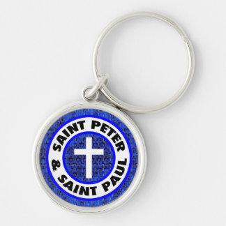 St Peter & St Paul Rund Silverfärgad Nyckelring