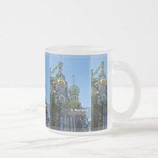 St Petersburg kyrka av frälsaren på blod Frostad Glas Mugg