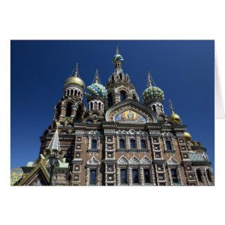 St Petersburg kyrka, Ryssland Hälsningskort