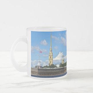 St Petersburg, Peter och Paul fästning Frostad Glasmugg