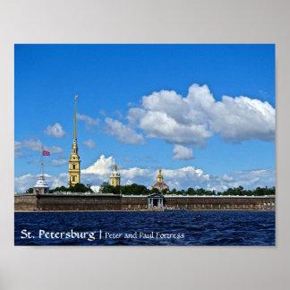 St Petersburg, Peter och Paul fästning Poster
