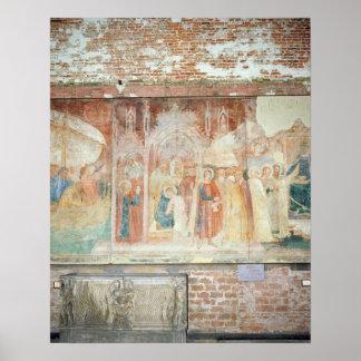 St Ranieri i det heliga landet, mitt- 14th århundr Poster