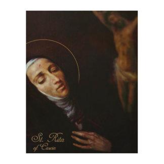 St. Rita av Cascia Trätavla