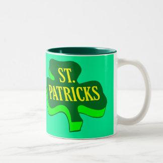 St. Saint patrickShamrockklöver Två-Tonad Mugg