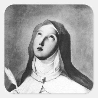 St Theresa av Avila Fyrkantigt Klistermärke