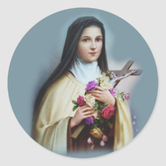 St. Therese av Lisieux med den Runt Klistermärke