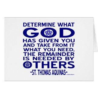 St Thomas Aquinas citationstecken Hälsningskort