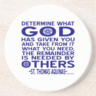 St Thomas Aquinas citationstecken Underlägg